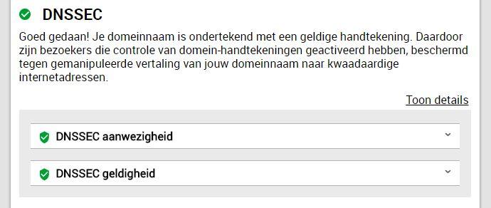 Internet.nl - DNSSEC