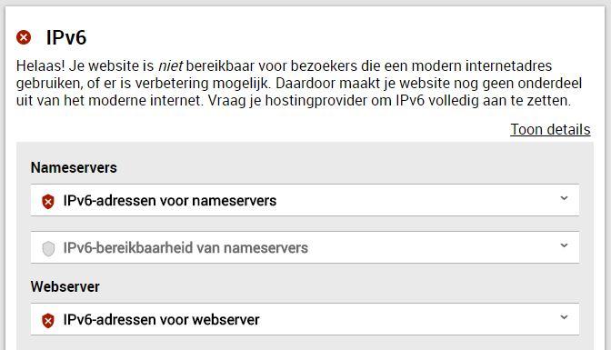 Internet.nl - IPv6