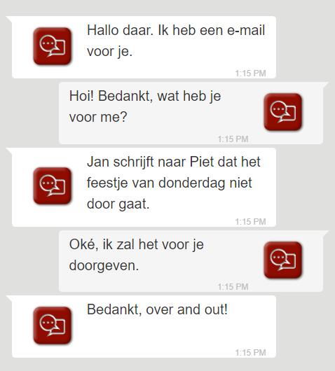 Leesbare communicatie tussen mailservers