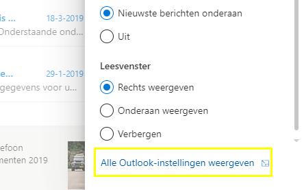 Outlook.com - Veilige afzenders - Alle instellingen